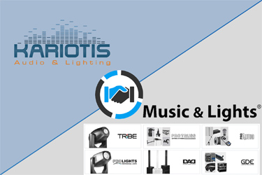 Η Music & Lights srl στην Kariotis Audio & Lighting