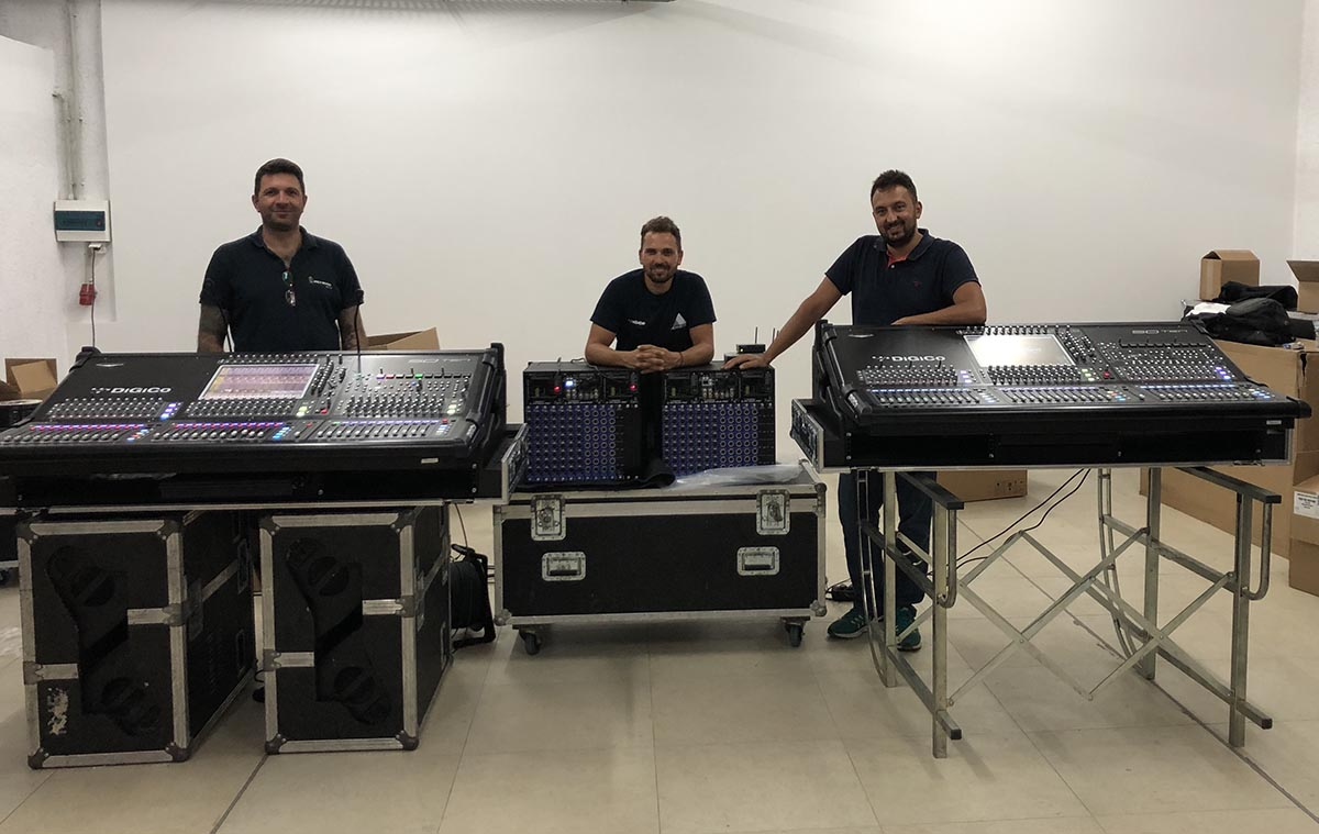 2 Brand New DiGiCo SD10 and SD-Rack for MANOS Backline Services & PROEVENTS